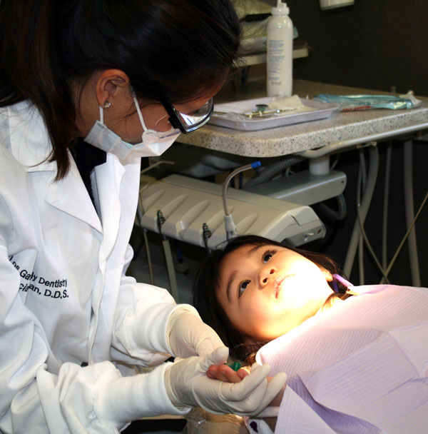 Los Gatos Family Dentistry Dr. Phan Working